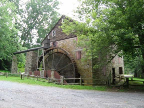 A working Grist Mill, Rock Run Grist Mill in susquehanna State Park near Havre de Grace Maryland