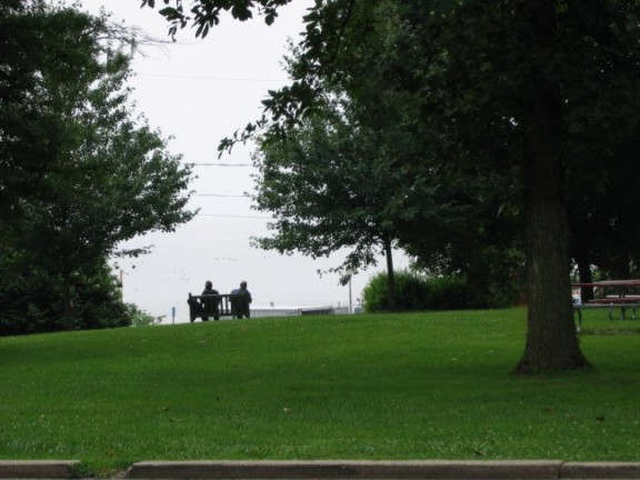 watching the boating in Tydings Park Havre de Grace Maryland
